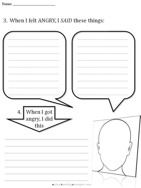 Cbt Children's Emotion Worksheet Series 7 Worksheets For Dealing With Anger
