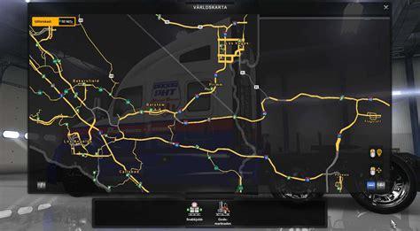 coast  coast map   ats american truck simulator