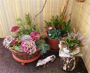 Herbstdeko Für Terrasse : herbstdekoration auf balkon und terrasse ~ Lizthompson.info Haus und Dekorationen