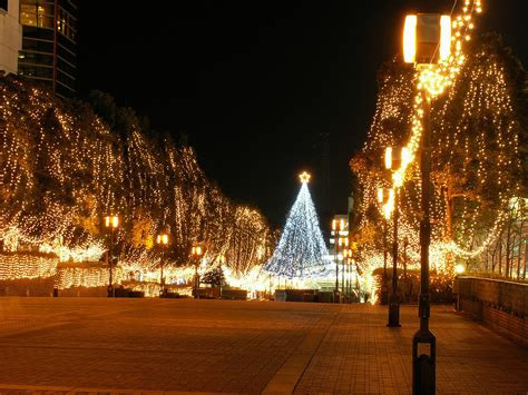 The Tatami Galaxy Wallpaper City Street Christmas Lights Xmaspin