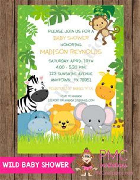 Wild Safari Baby Shower by Printable Jungle Baby Shower Invitation Free Thank You