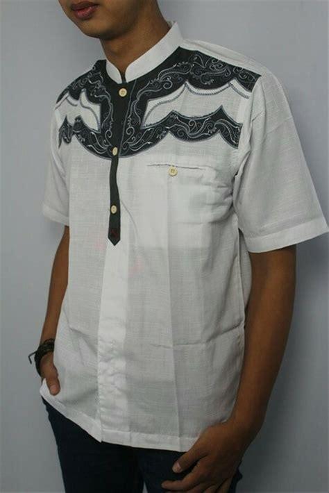jual baju koko pria muslim pria kode tn15 putih di