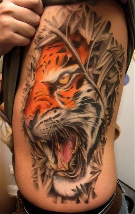 3d tier tattoos see more roaring 3d tiger on side tat