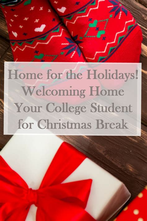 college christmas welcoming your college student home for