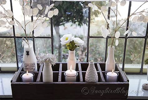 Spring Decorating On A Window Sill
