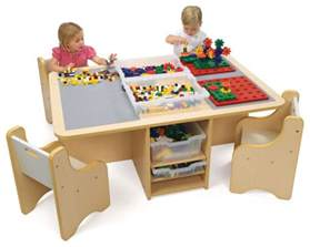 quad activity table with storage contemporary kids