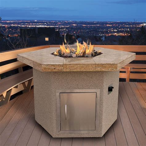 48 inch gas pit table by cal hexagon