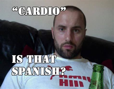 Cardio Meme - why the fitness industry is full of helmets fitness