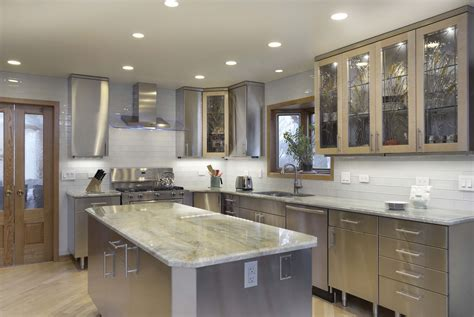 stainless steel kitchen ideas beautiful and simple contemporary kitchen cabinets design