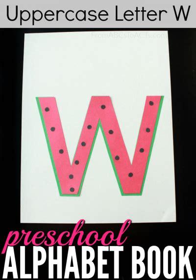preschool alphabet book uppercase letter   abcs