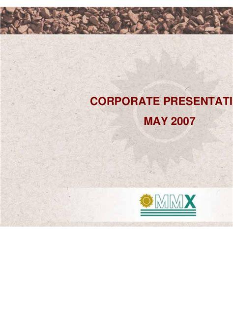 Corporate Presentation  May 2007