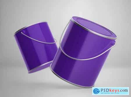 Vhite vector paint bucket mockup. Free Download Photoshop Vector Stock image Via Torrent ...