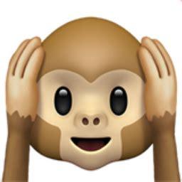 hear  evil monkey emoji uf
