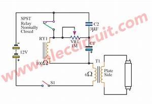 12v Fluorescent Lamp Flashing Circuit