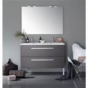 Meuble salle de bain double vasque bricoman for Meuble vasque salle de bain brossette