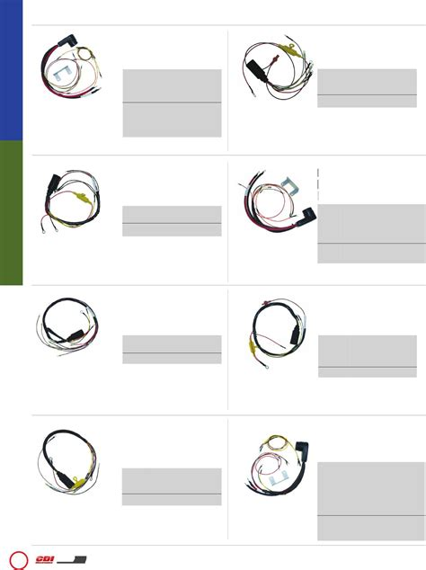 Wiring Harnesses Cont Mercury Mariner Cdi