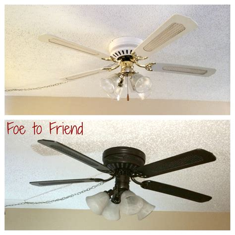 diy ceiling fan refresh alittlehousework