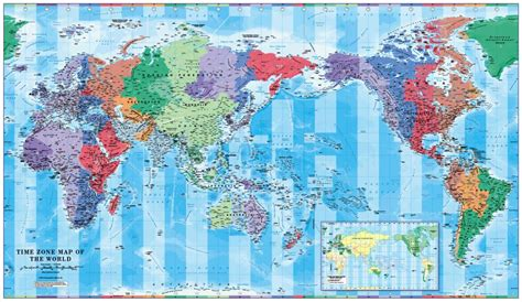 pacific centred world timezones map  million
