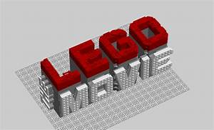 Lego Movie Logo LDD and Parts List : lego