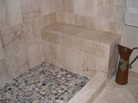 mosaic tiles for bathroom walls pebble shower floor bathroom traditional with none