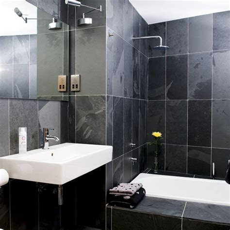 black bathrooms ideas small black bathroom understated white sanitaryware