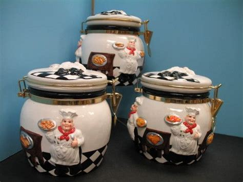 italian canisters kitchen 3d italian chef canister set kitchen decor bistro jar