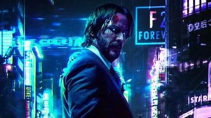 Cyberpunk 2077 Keanu Reeves Wick John Fanart