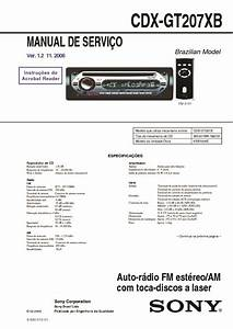 Sony Cdx-gt20 Service Manual