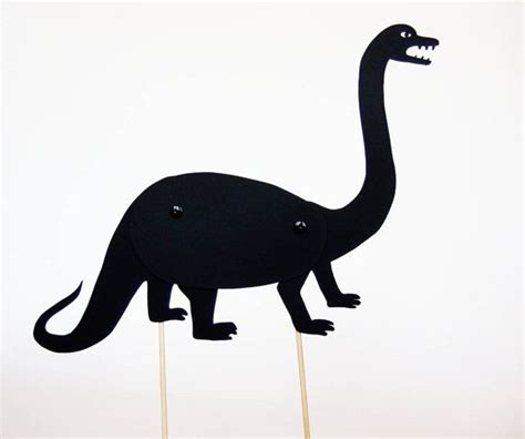 shadow puppets silhouettes dinosaurs