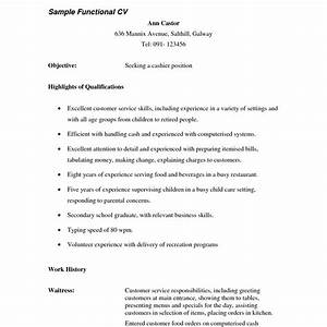 Responsibilities Of A Waitress For Resumes 13 Resume Template For Waitress Collection Resume Template