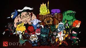 Dota 2 Chibi Heroes Wallpaper 3200x1800 Px Free Download