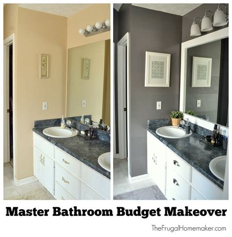 Bathroom Makeovers On A Tight Budget by Master Bathroom Budget Makeover