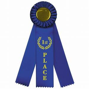 Triple 1st Place Rosette - Jones School Supply