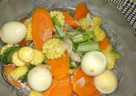 Setelah semua bahan siap silahkan untuk meracik seluruh bahan agar bisa menjadi sebuah sajian menu sayur lodeh telur puyuh, langkah pertama yaitu Resep Tumis Sayur Sehat (Putren, wortel, sawi, telur puyuh) oleh Winda Ratu mangikini - Cookpad