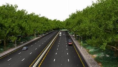 Road Straight Path Highway Freeway Motorway Driving