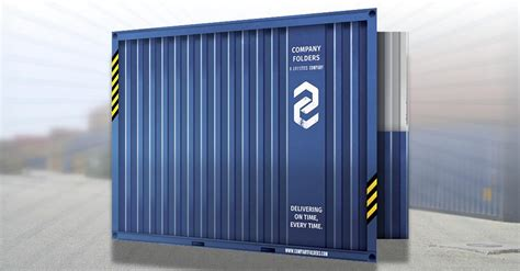 psd shipping container folder design template