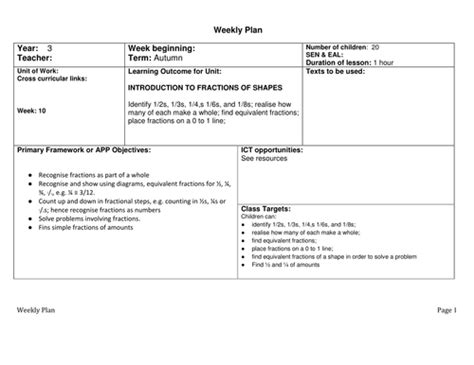 year 3 fractions maths planning by amara01202 teaching