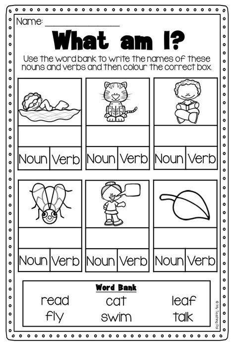 best 25 verb worksheets ideas on nouns and