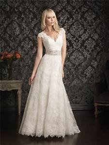 a line princess cap sleeve v neck empire waist lace With a line empire waist wedding dress