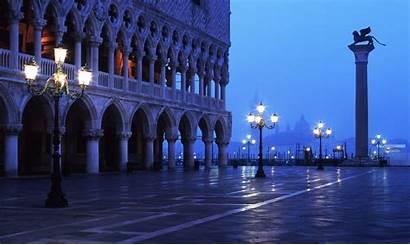 Venice Night Italy Square Mark Lion Architecture