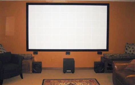 build   projector screen  home