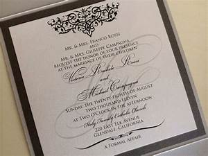 Wedding invitation formal attire ideas wedding for Formal wedding invitations names
