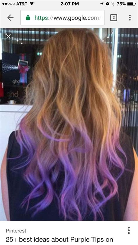 Pin By Kayla Rudy On Hair In 2019 Purple Hair Tips