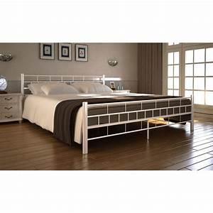 Matratze Mit Lattenrost : der metallbett doppelbett mit lattenrost wei 140 x 200 cm matratze online shop ~ Watch28wear.com Haus und Dekorationen
