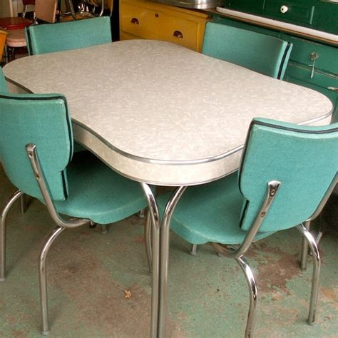 Vintage Formica Table And Chairs vintage 1950s formica and chrome table misc