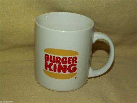 Burger king (bk) is an american multinational chain of hamburger fast food restaurants. BURGER KING FAST FOOD RESTAURANT COFFEE MUG TEA CUP RED YELLOW LOGO WHITE BK | Fast food ...