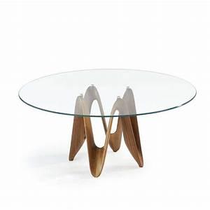 Table Ronde En Verre Pied Central : table ronde design en verre lambda sovet 4 pieds tables chaises et tabourets ~ Teatrodelosmanantiales.com Idées de Décoration