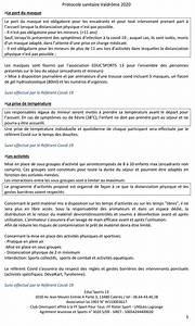 Le Protocole Sanitaire Des S U00e9jours De Vacances 2020