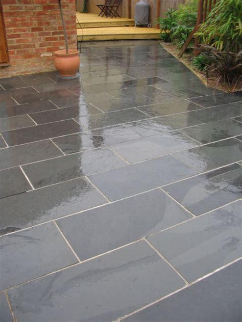 black slate paving patio garden slabs tiles ebay