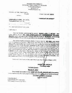 Arrest Warrant Template